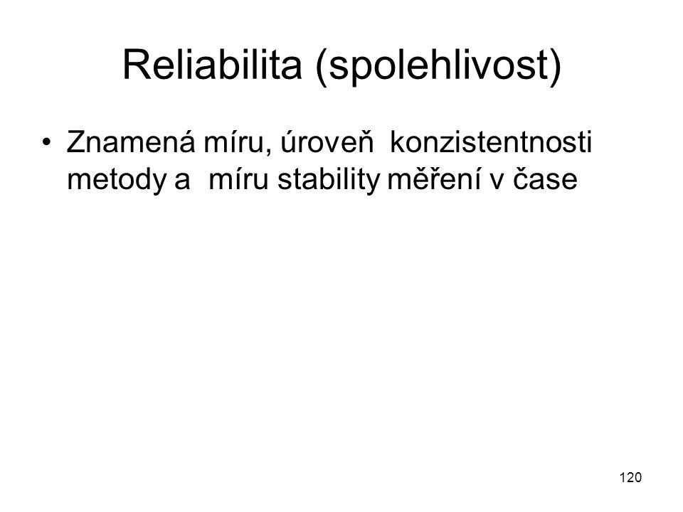 Reliabilita (spolehlivost)