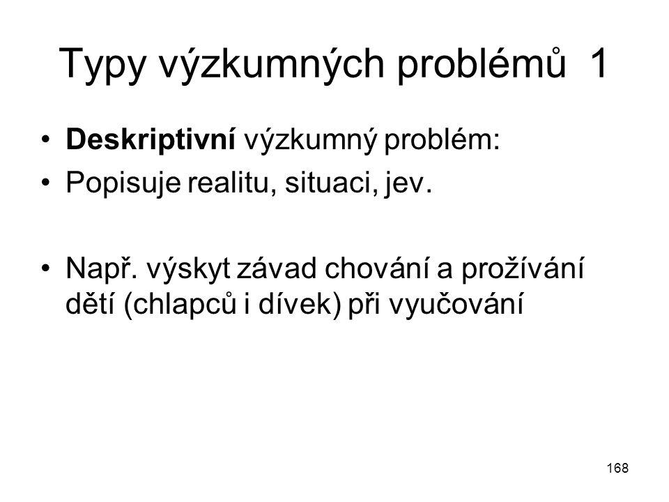 Typy výzkumných problémů 1