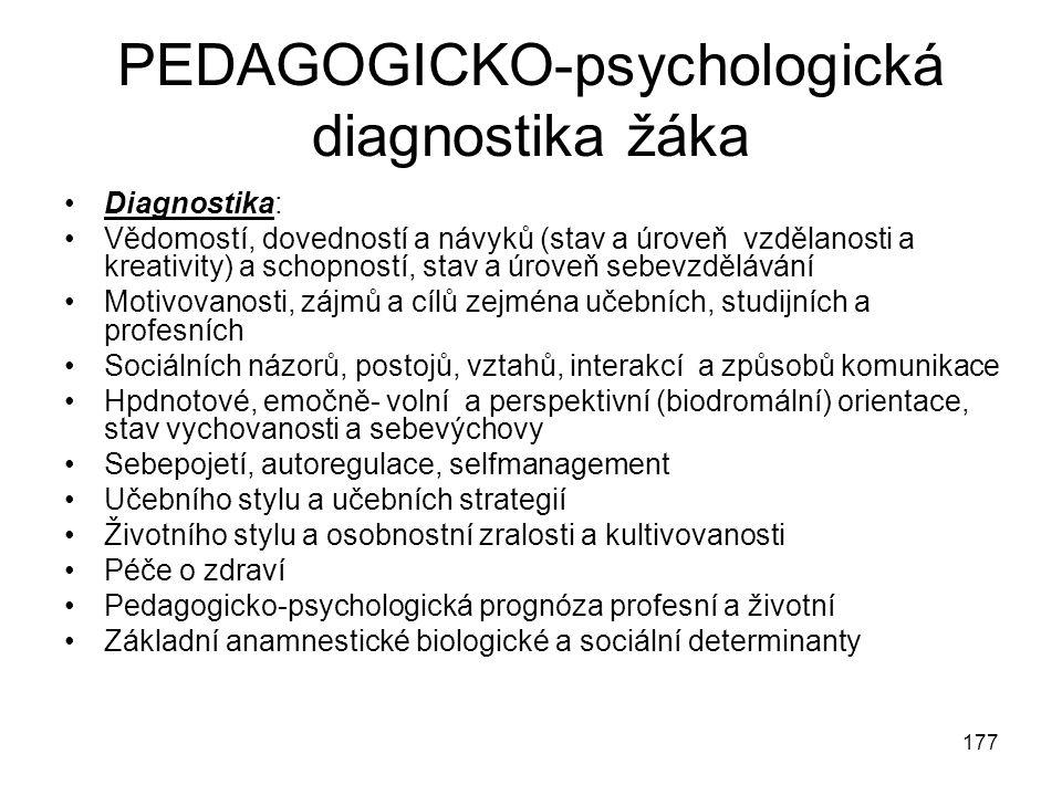 PEDAGOGICKO-psychologická diagnostika žáka