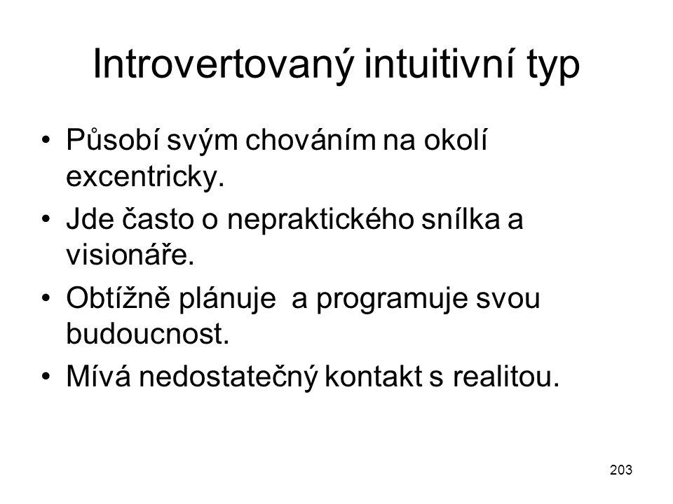 Introvertovaný intuitivní typ
