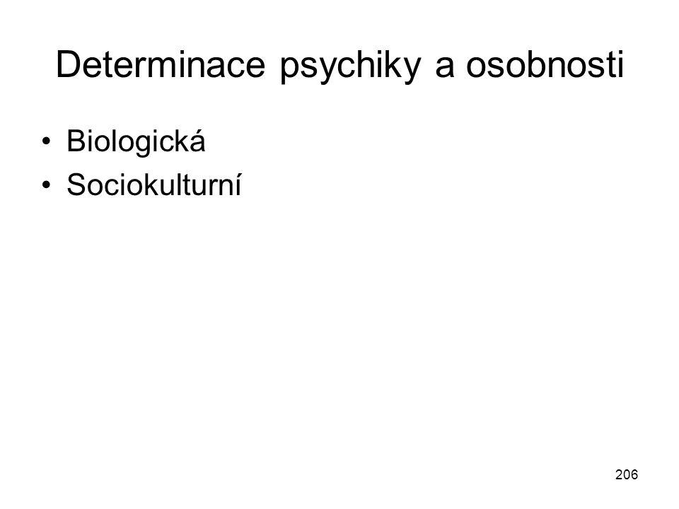 Determinace psychiky a osobnosti