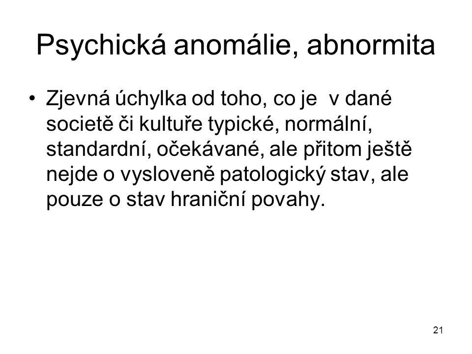 Psychická anomálie, abnormita