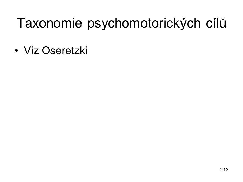 Taxonomie psychomotorických cílů