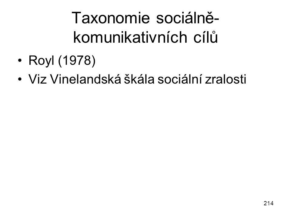 Taxonomie sociálně-komunikativních cílů