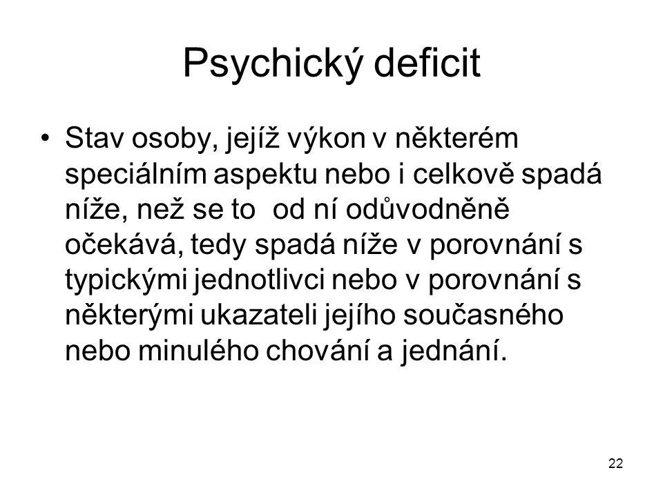 Psychický deficit