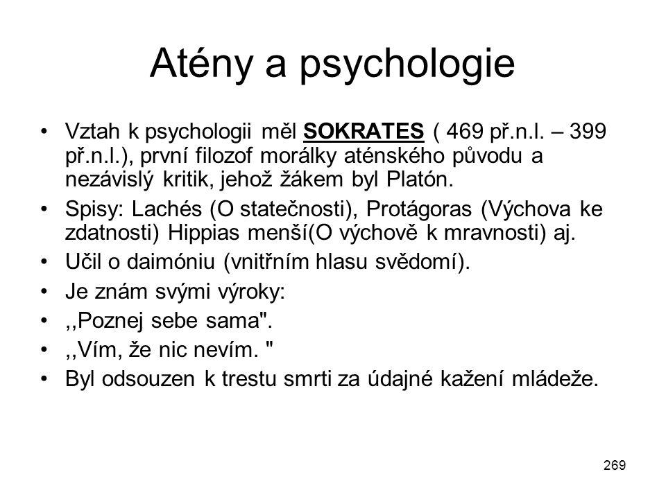 Atény a psychologie