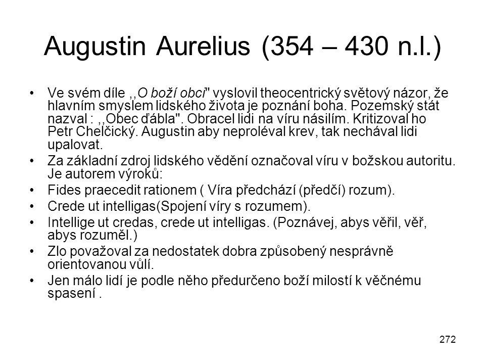 Augustin Aurelius (354 – 430 n.l.)