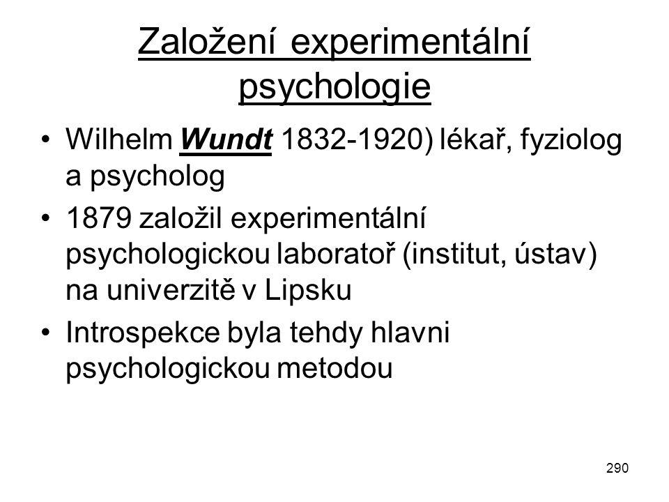 Založení experimentální psychologie