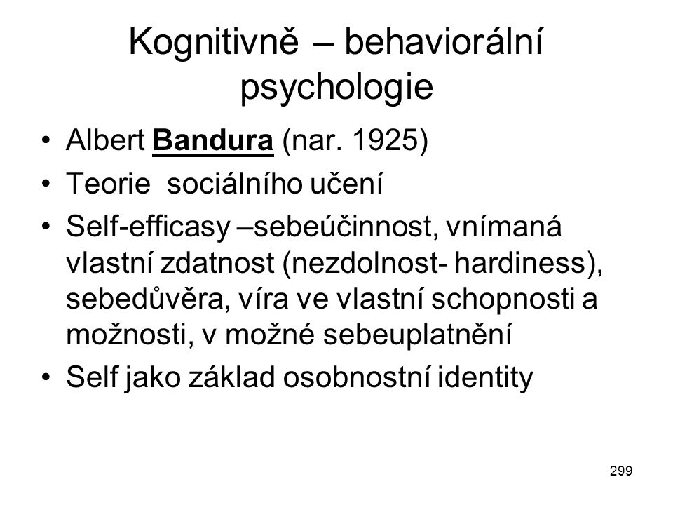 Kognitivně – behaviorální psychologie