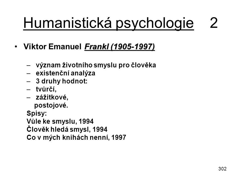 Humanistická psychologie 2