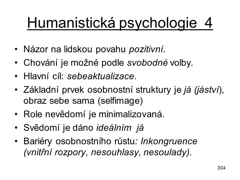 Humanistická psychologie 4
