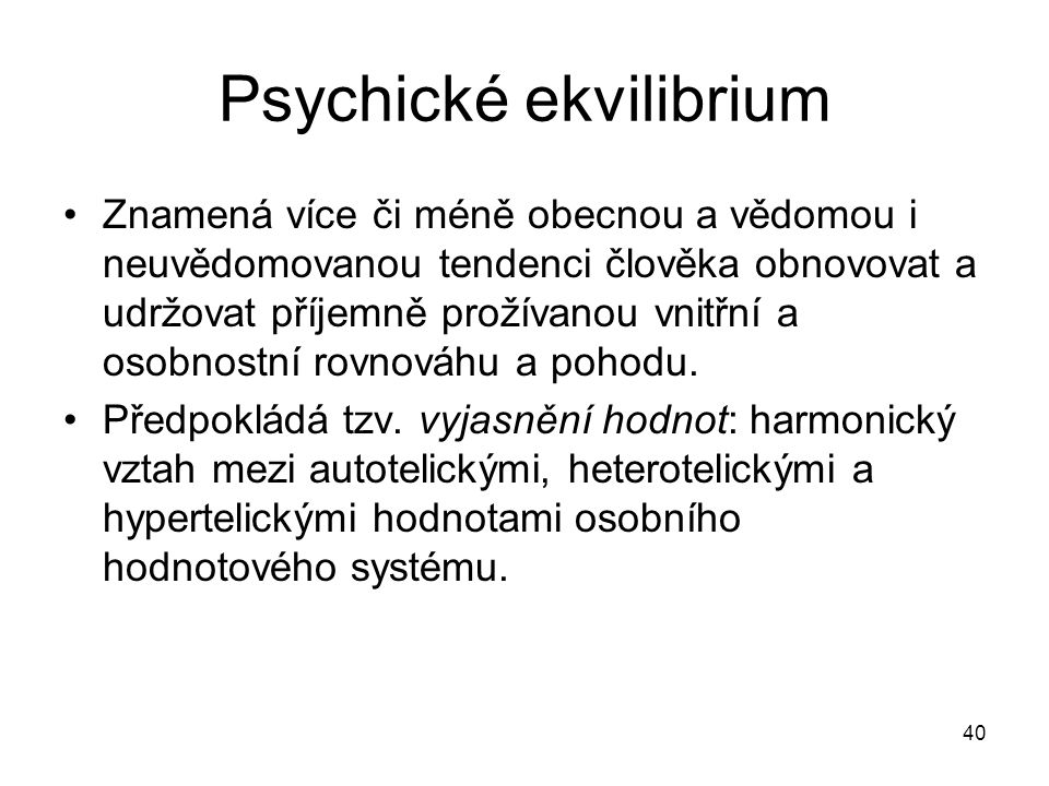 Psychické ekvilibrium