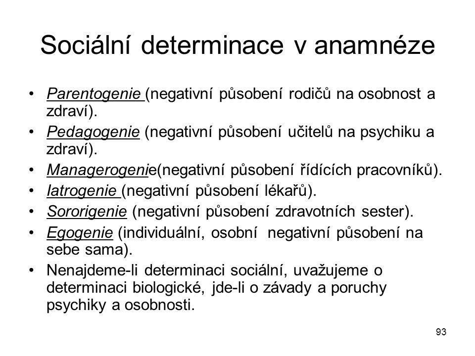 Sociální determinace v anamnéze
