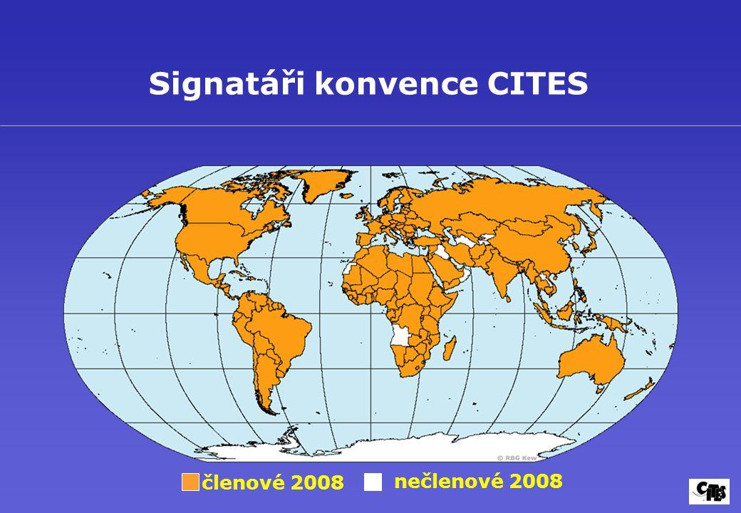 Signatáři konvence CITES