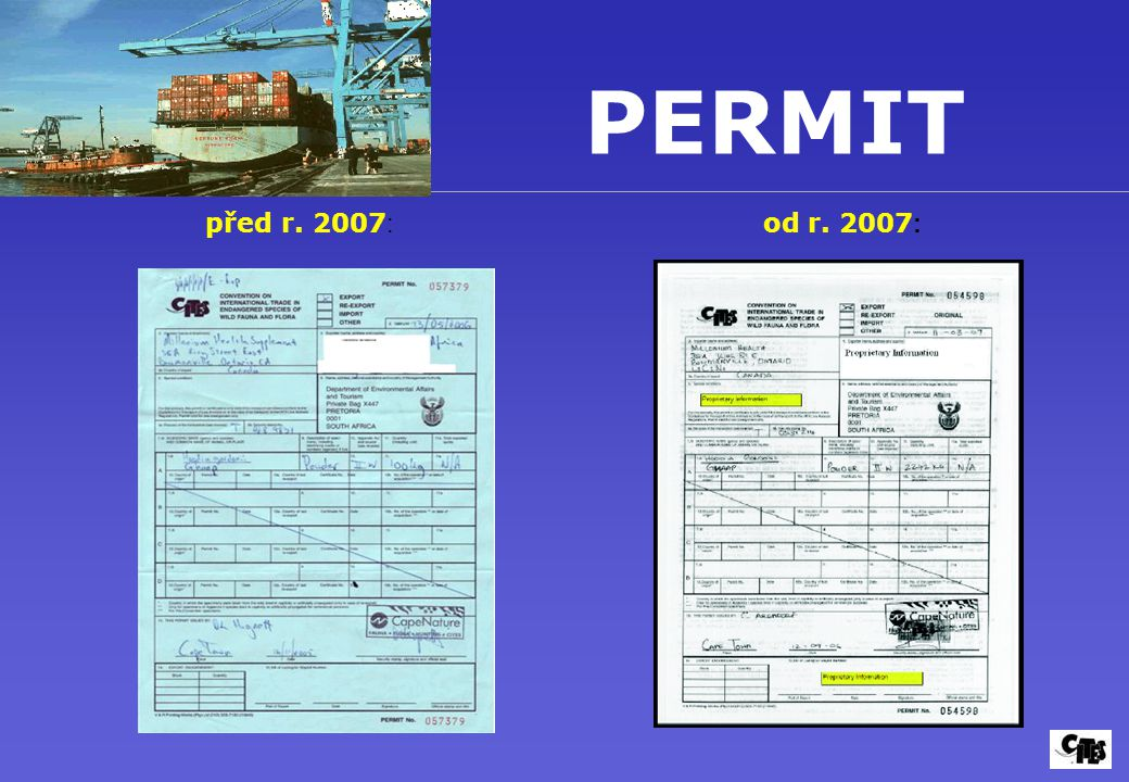 PERMIT před r. 2007: od r. 2007: