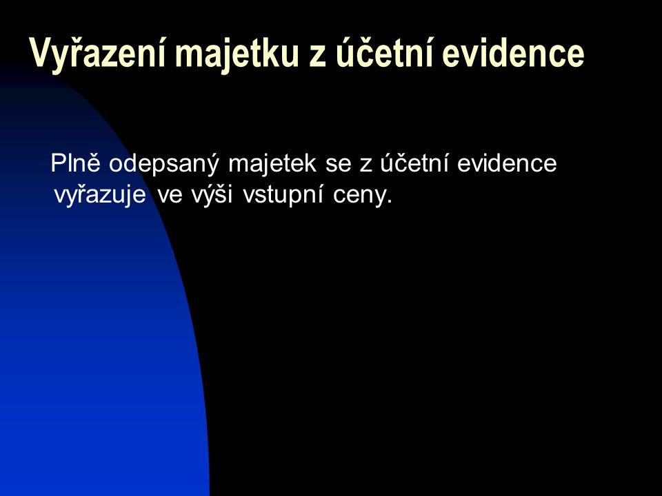 Vyřazení majetku z účetní evidence