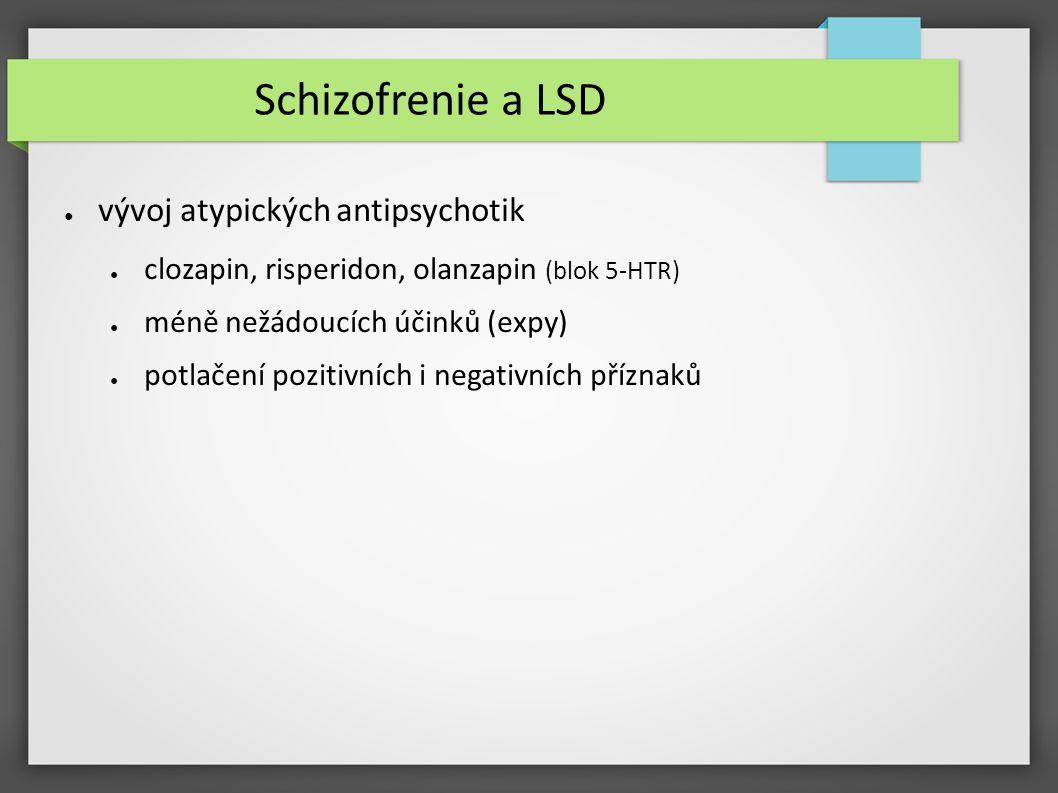 Schizofrenie a LSD vývoj atypických antipsychotik