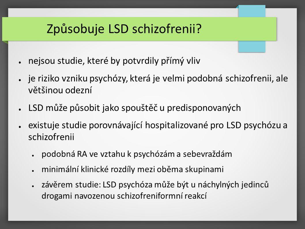 Způsobuje LSD schizofrenii