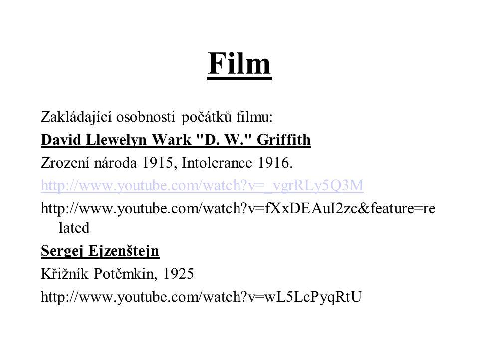 Film Zakládající osobnosti počátků filmu: