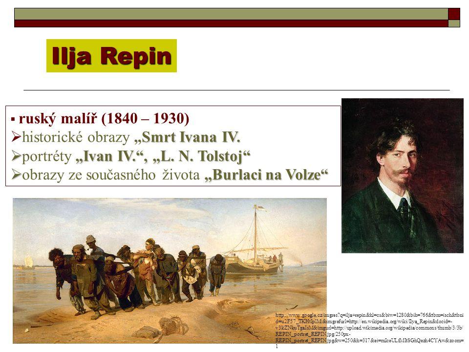 "Ilja Repin historické obrazy ""Smrt Ivana IV."