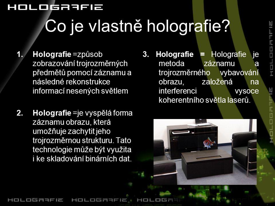 Co je vlastně holografie