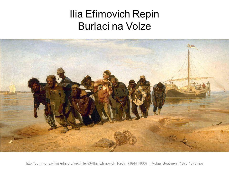 Ilia Efimovich Repin Burlaci na Volze