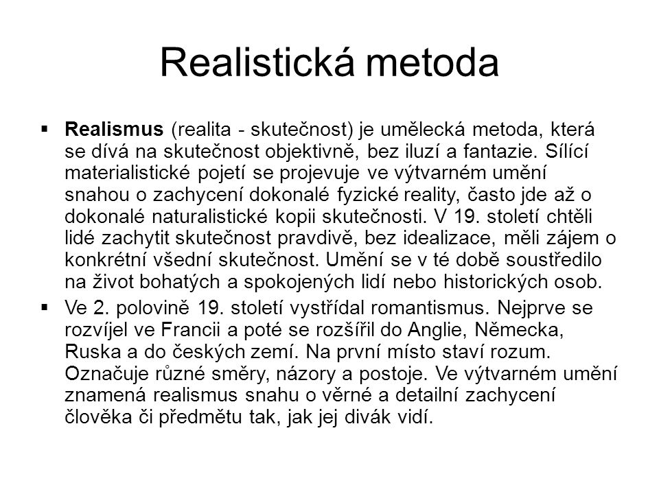 Realistická metoda