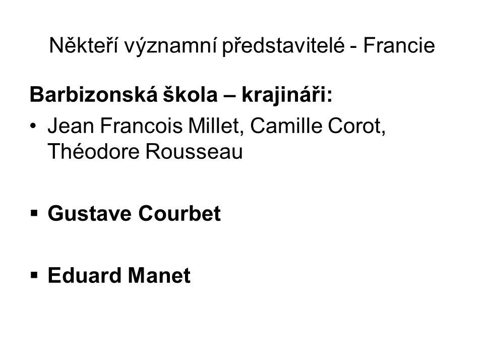 Někteří významní představitelé - Francie