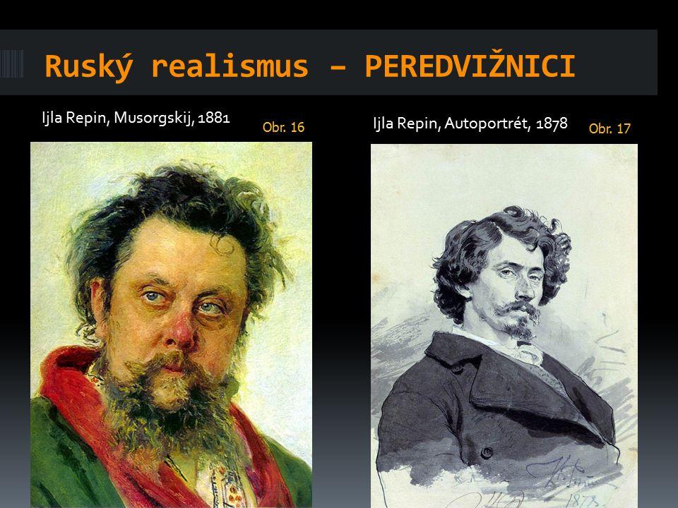 Ruský realismus – PEREDVIŽNICI