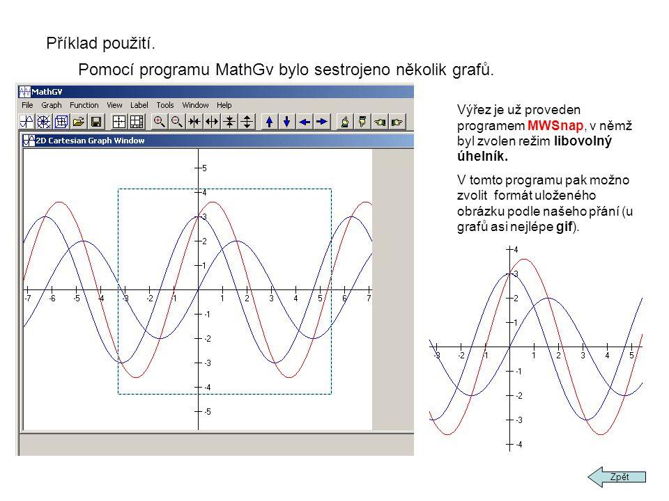 Pomocí programu MathGv bylo sestrojeno několik grafů.