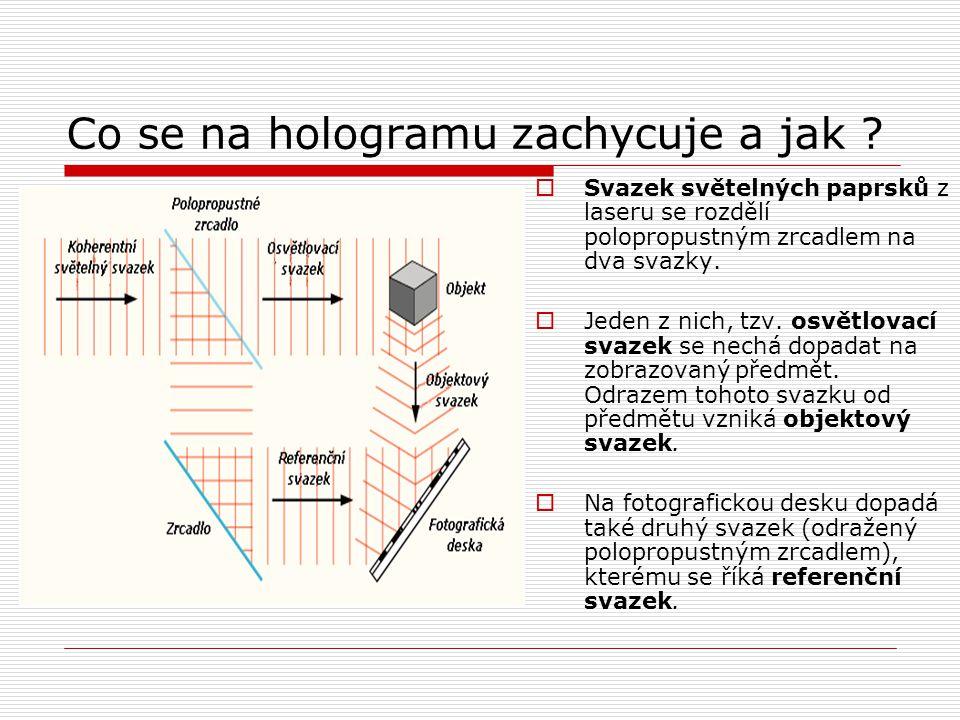 Co se na hologramu zachycuje a jak