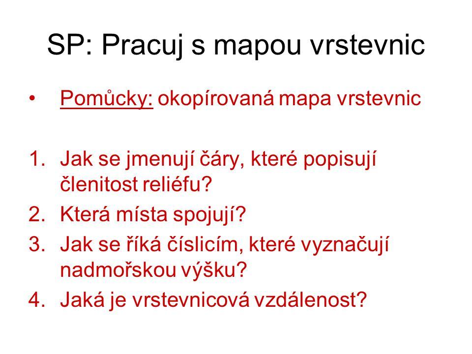 SP: Pracuj s mapou vrstevnic