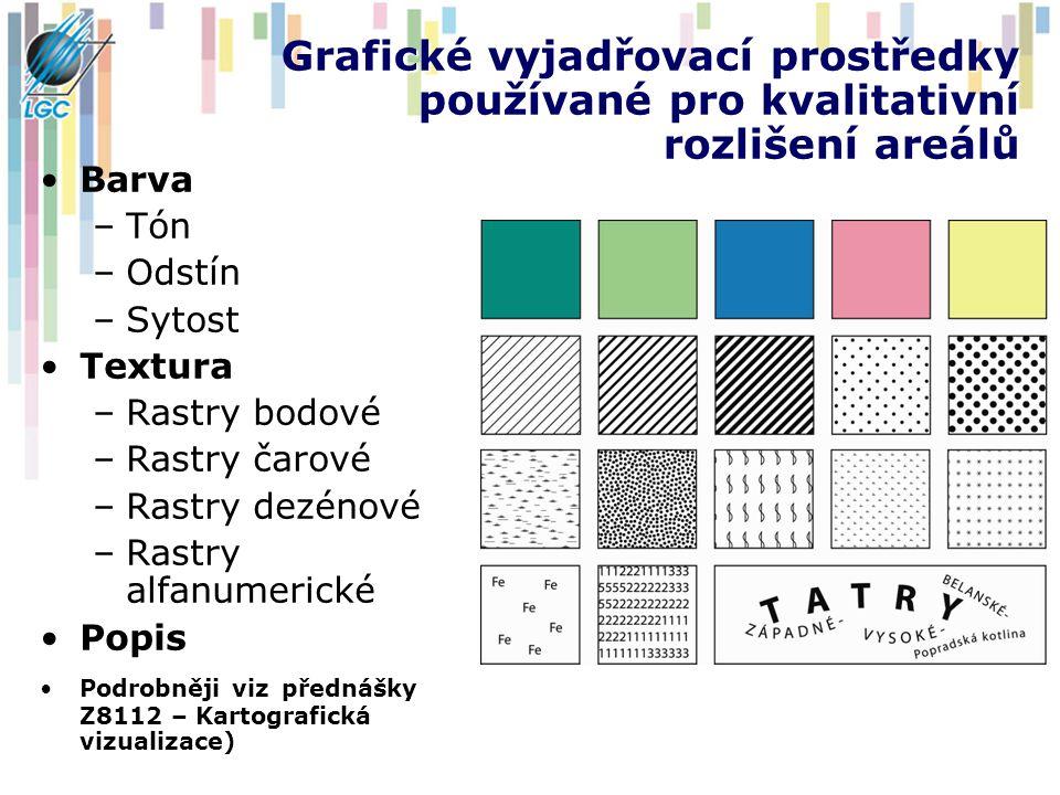 Grafické vyjadřovací prostředky používané pro kvalitativní rozlišení areálů