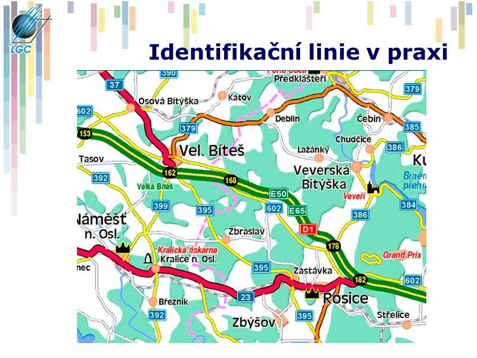 Identifikační linie v praxi