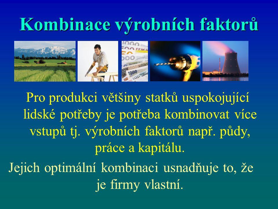 Kombinace výrobních faktorů