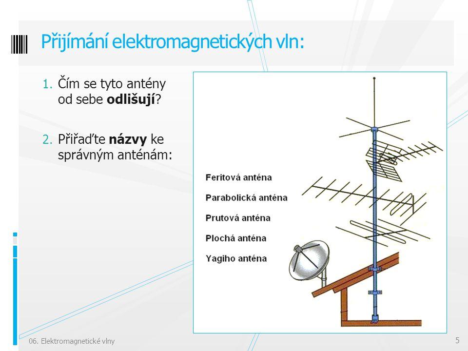 Přijímání elektromagnetických vln: