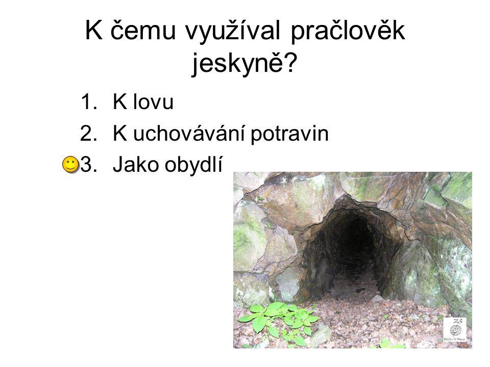 K čemu využíval pračlověk jeskyně