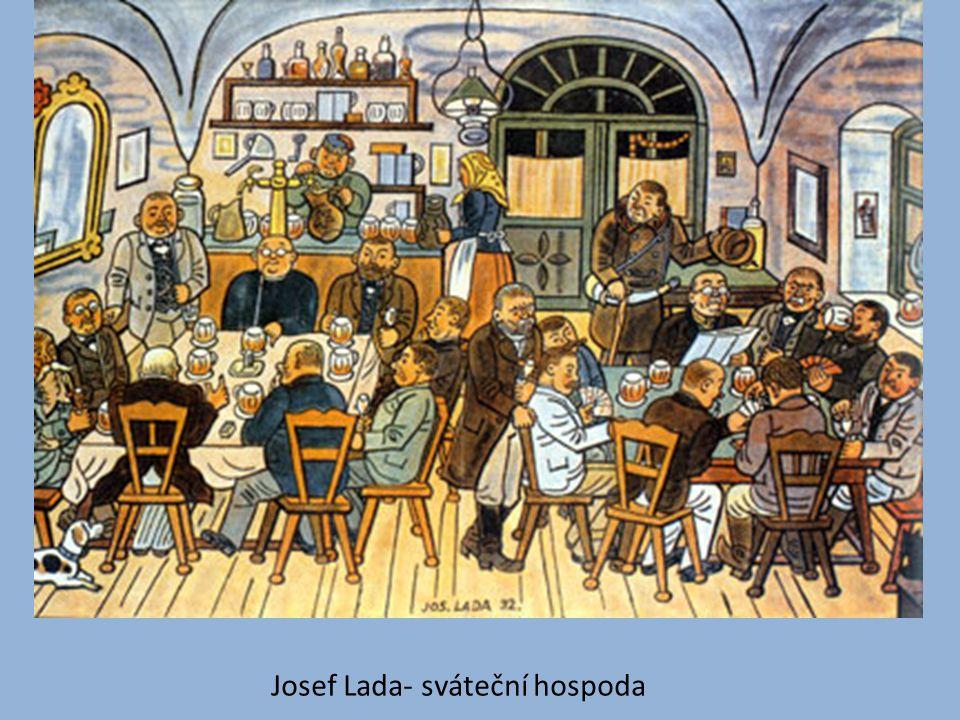 Josef Lada- sváteční hospoda