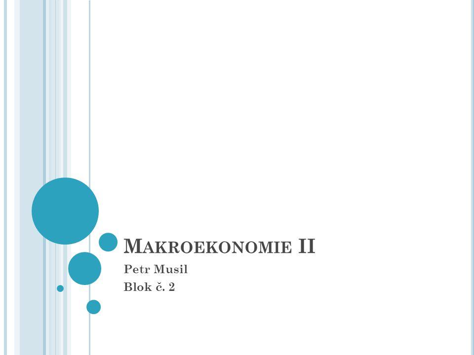 Makroekonomie II Petr Musil Blok č. 2