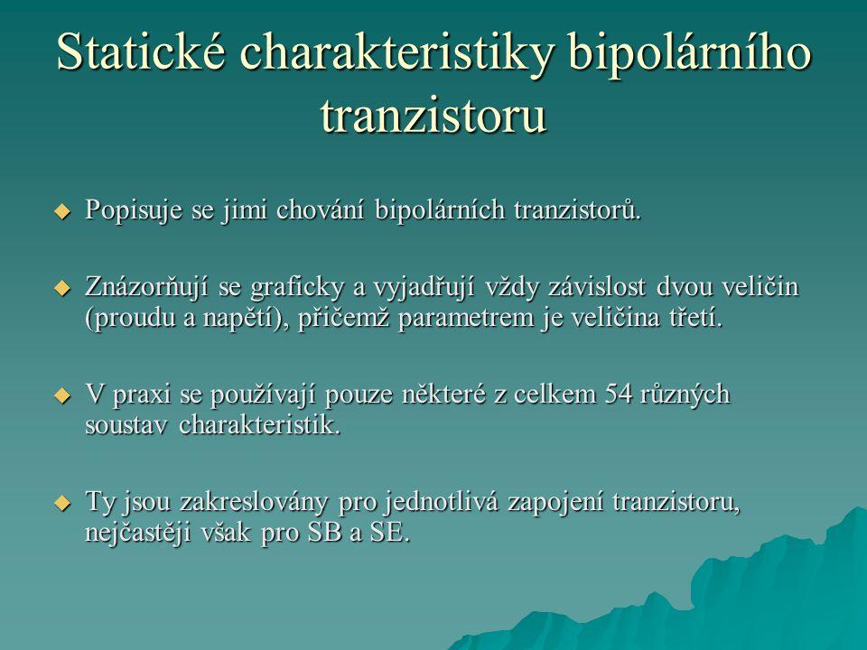 Statické charakteristiky bipolárního tranzistoru