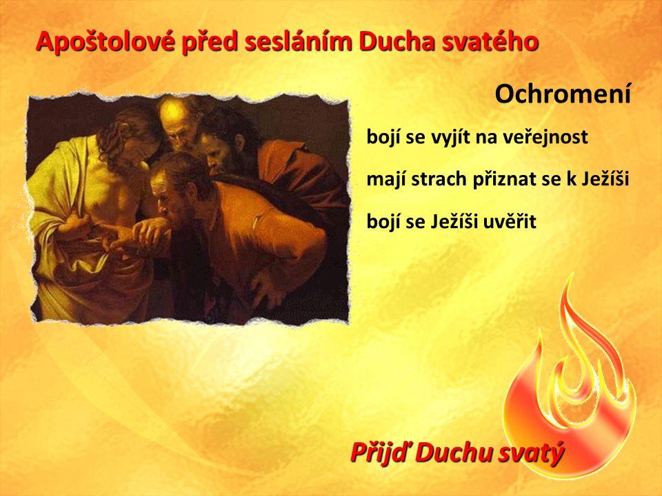 Apoštolové před sesláním Ducha svatého Ochromení