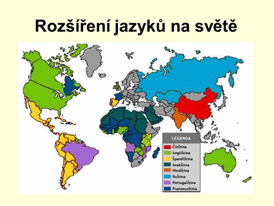 Rozšíření jazyků na světě