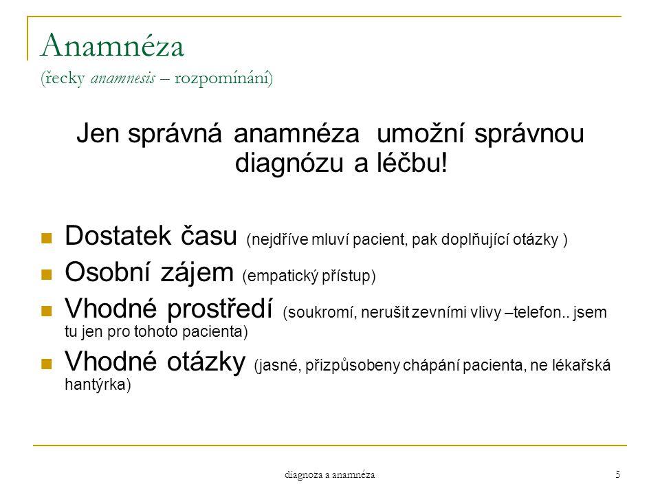 Anamnéza (řecky anamnesis – rozpomínání)