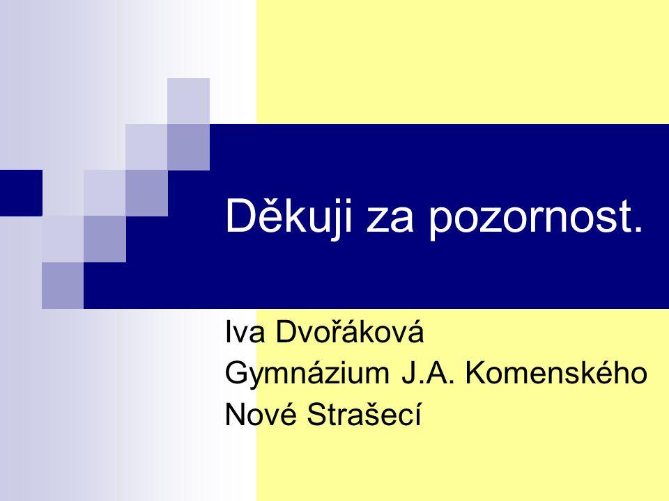 Iva Dvořáková Gymnázium J.A. Komenského Nové Strašecí