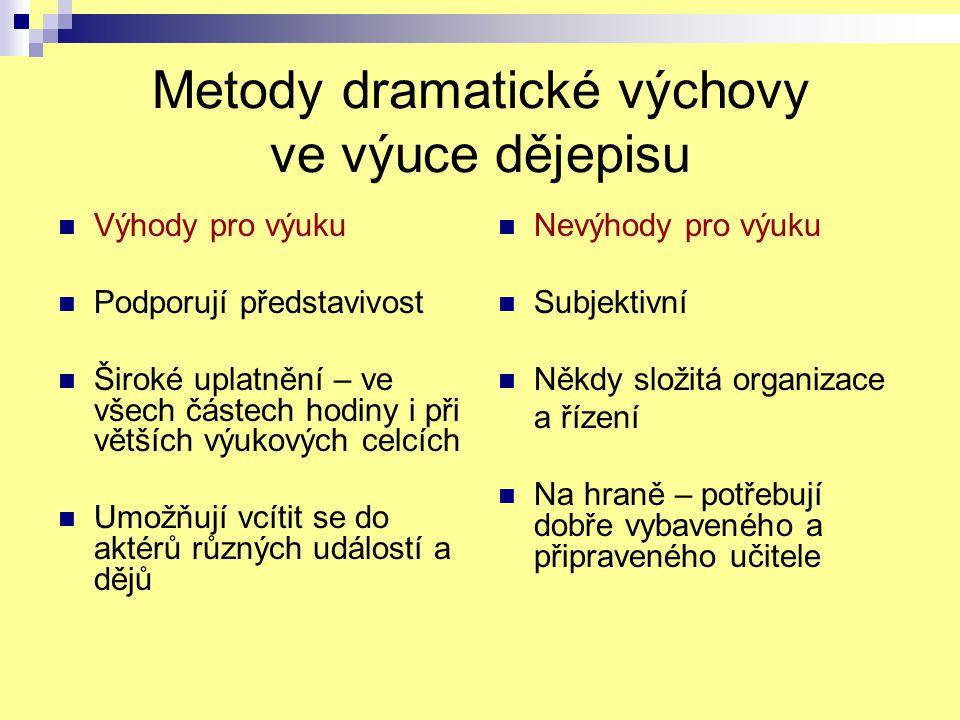 Metody dramatické výchovy ve výuce dějepisu