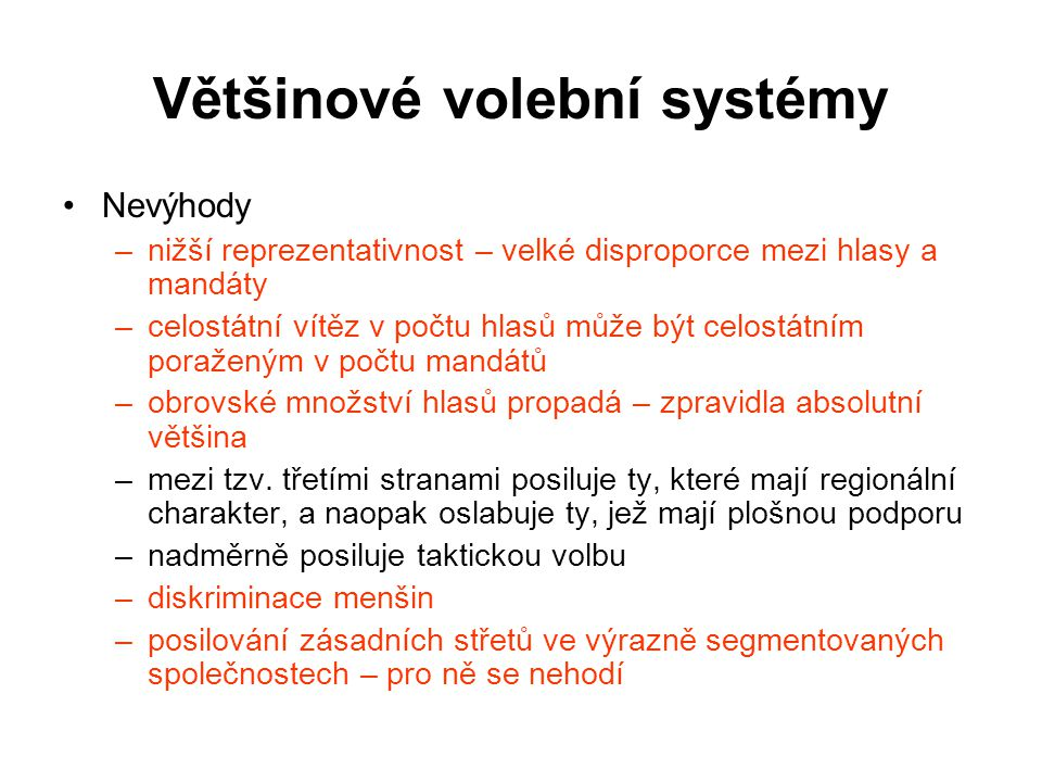 Většinové volební systémy