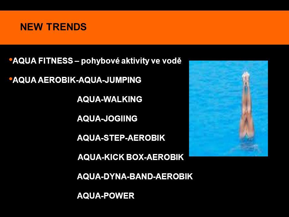 NEW TRENDS AQUA FITNESS – pohybové aktivity ve vodě
