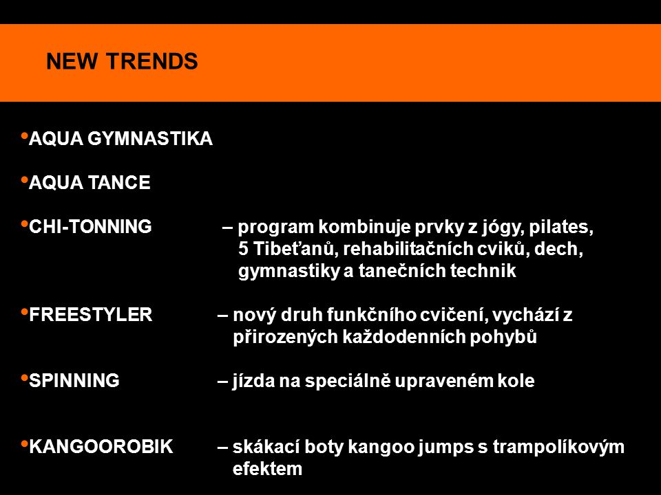 NEW TRENDS AQUA GYMNASTIKA AQUA TANCE