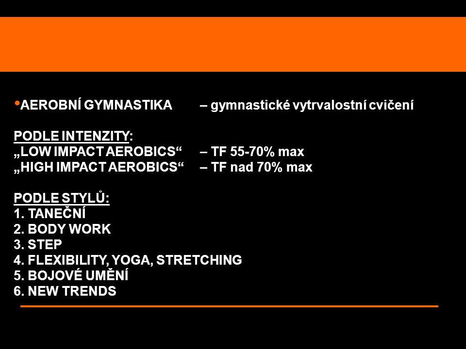 AEROBNÍ GYMNASTIKA – gymnastické vytrvalostní cvičení