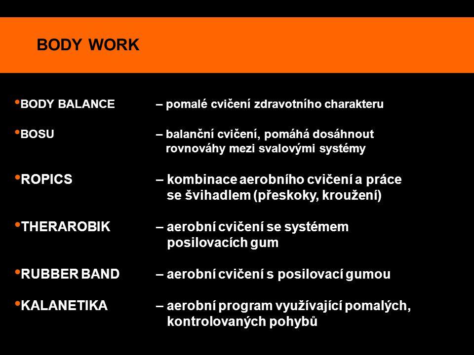 BODY WORK ROPICS – kombinace aerobního cvičení a práce